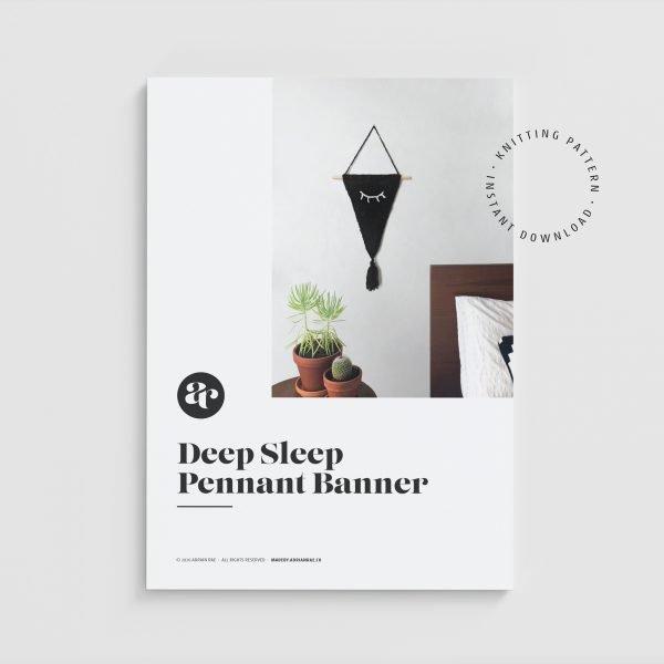 made by Adrian Rae • Deep Sleep Pennant Banner Knitting Pattern