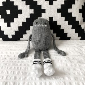made by Adrian Rae • Gray Regular Sock Monster