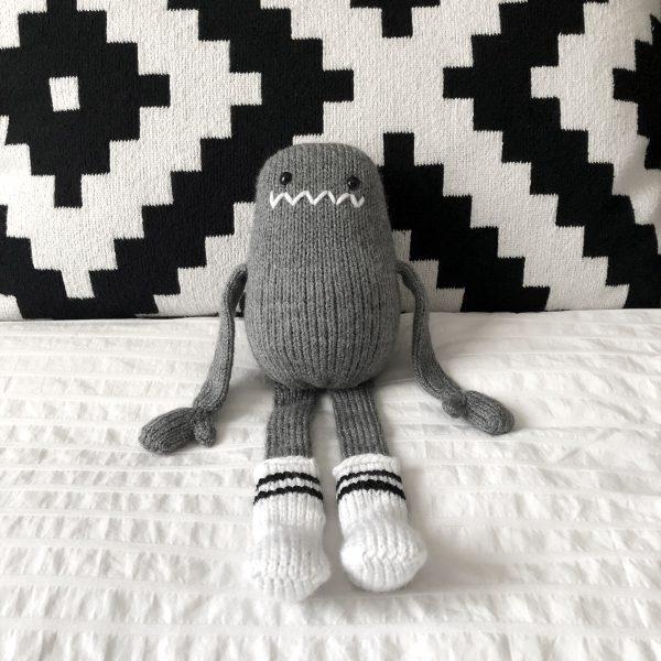 made by Adrian Rae • Gray Regular Sock Monster