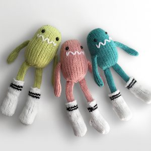 made by Adrian Rae • Mini Sock Monsters