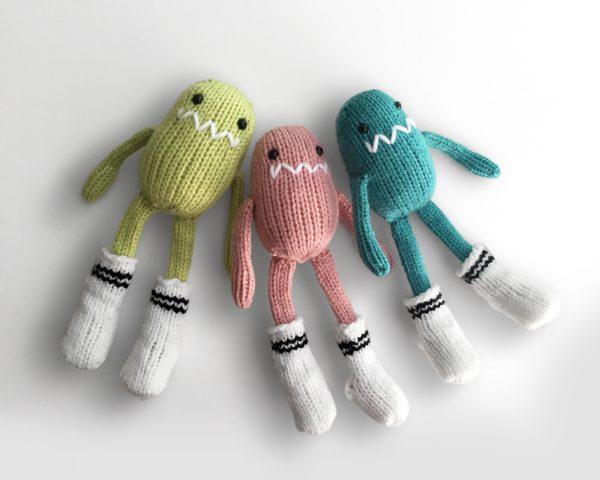 made by Adrian Rae • Mini Sock Monsters