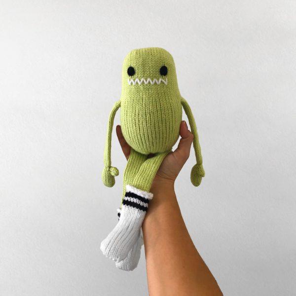 made by Adrian Rae • Green Regular Sock Monster