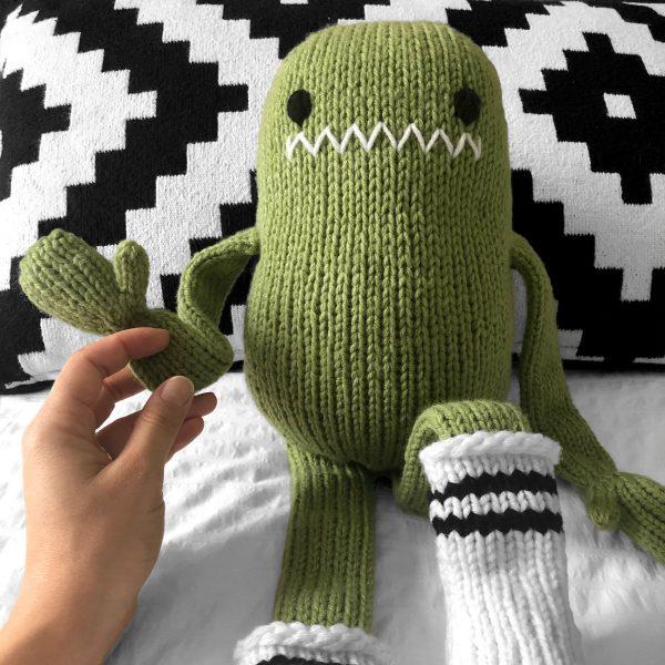 made by Adrian Rae • XL Sock Monster Closeup