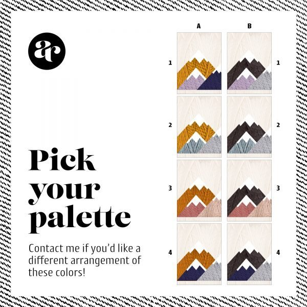 made by Adrian Rae • Adirondack Mountains Wall Hanging Color Palette Options