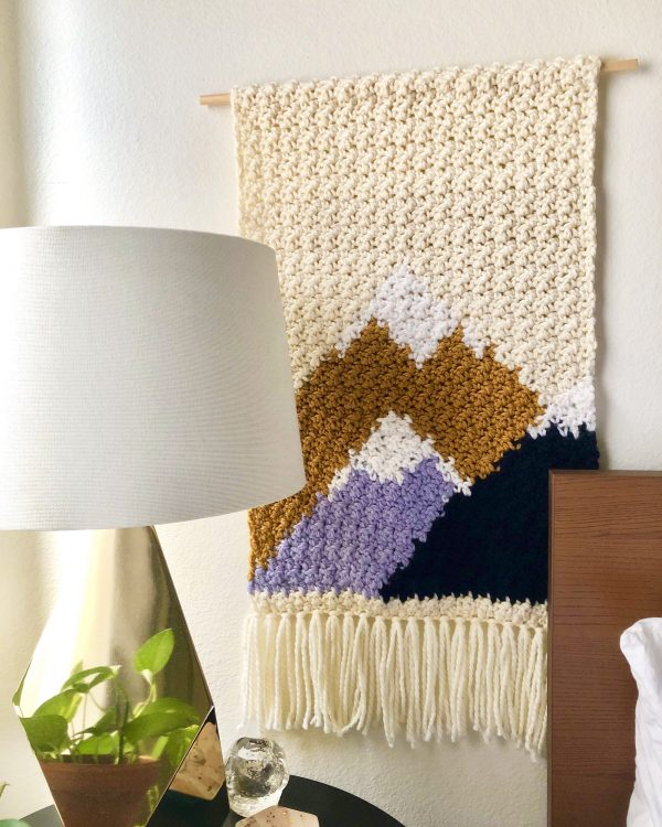 made by Adrian Rae • Adirondack Mountains Wall Hanging Texture Closeup