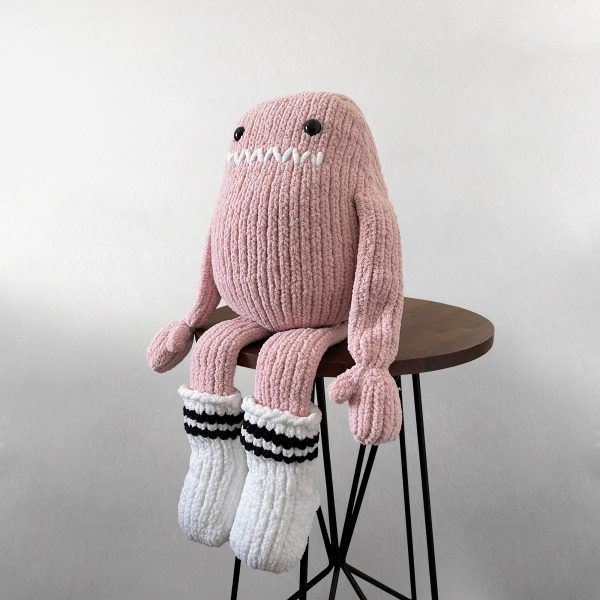 made by Adrian Rae • XL Pink Sock Monster